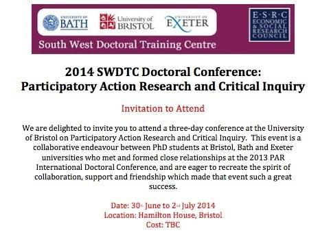 Invitation to 2014 SWDTC Doctoral Conference Participatory Action