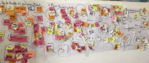 image of post-it notes covering wall
